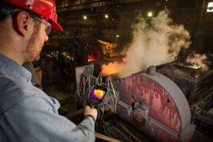FLIR E76 Inspection Camera at Steel Mill